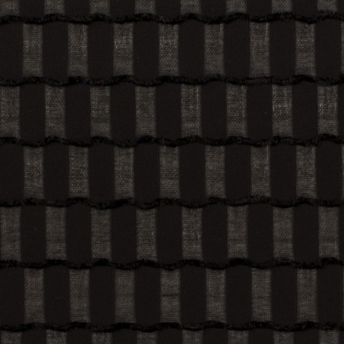 ポリエステル×スクエア(ブラック)×ジョーゼット・ジャガード イメージ1