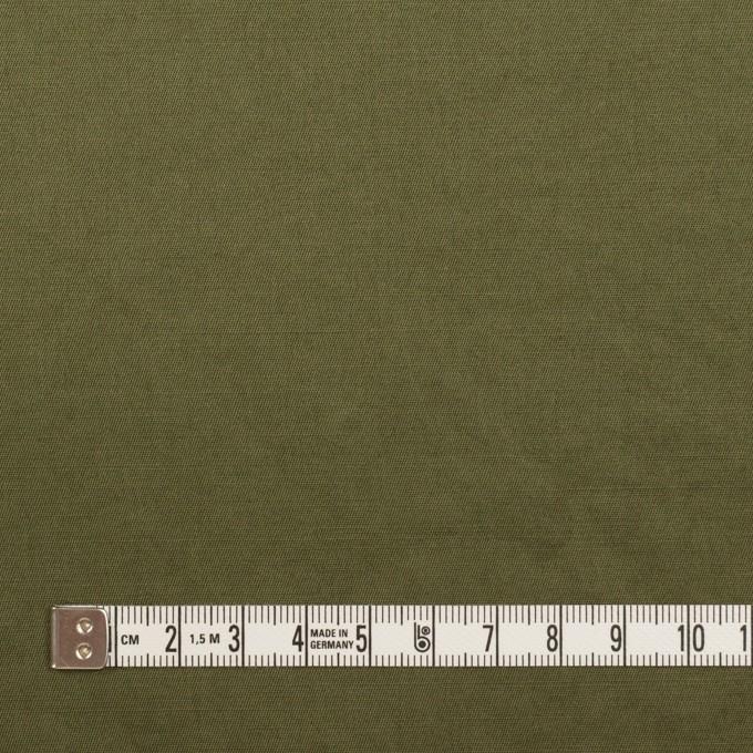 コットン&ラミー×無地(カーキグリーン)×サージワッシャー_全3色 イメージ4
