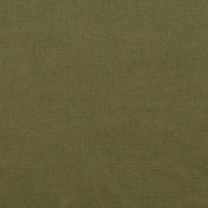 コットン&ラミー×無地(カーキグリーン)×サージワッシャー_全3色 イメージ1