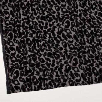 レーヨン&ポリエステル×レオパード(アッシュブラウン&ブラック)×オパールベルベット サムネイル2
