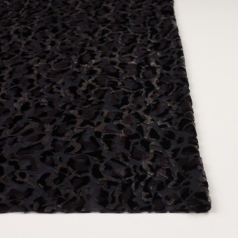 レーヨン&ポリエステル×レオパード(アッシュブラウン&ブラック)×オパールベルベット サムネイル3