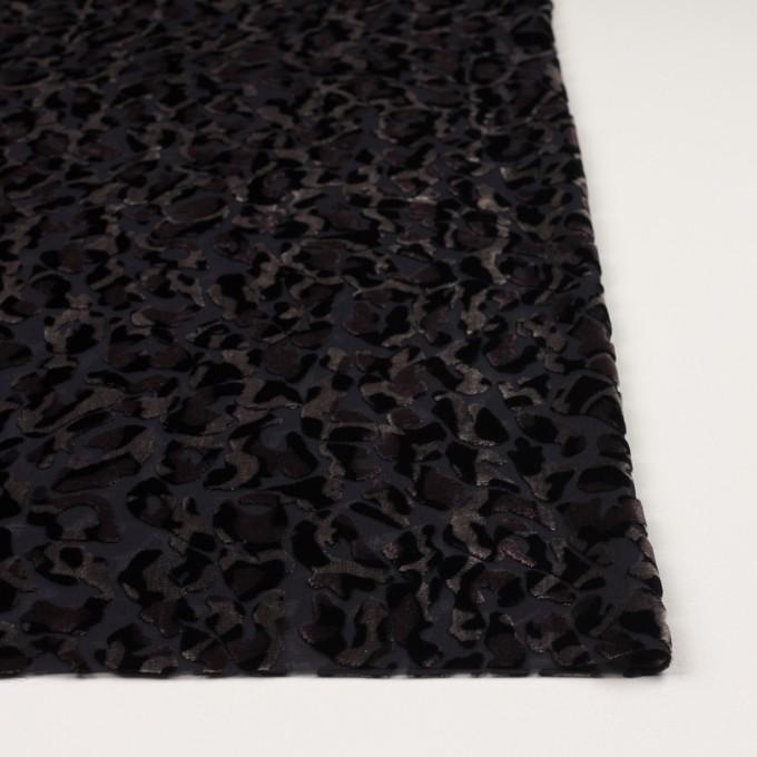 レーヨン&ポリエステル×レオパード(アッシュブラウン&ブラック)×オパールベルベット イメージ3