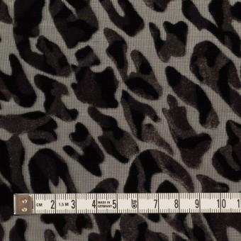 レーヨン&ポリエステル×レオパード(アッシュブラウン&ブラック)×オパールベルベット サムネイル4