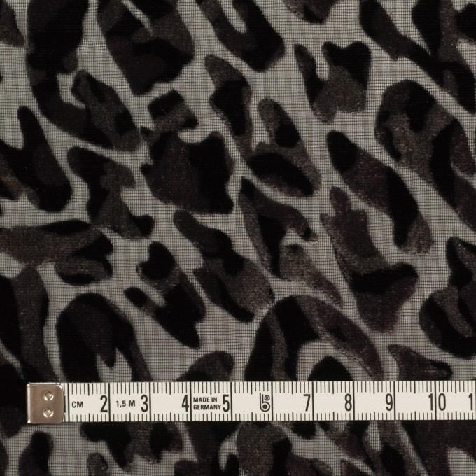 レーヨン&ポリエステル×レオパード(アッシュブラウン&ブラック)×オパールベルベット イメージ4
