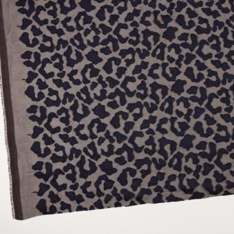 ポリエステル×レオパード(ブラウン&ネイビー)×ジョーゼット刺繍 サムネイル2