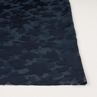 ポリエステル×フラワー(プルシアンブルー)×オパールジョーゼット_全2色 サムネイル3