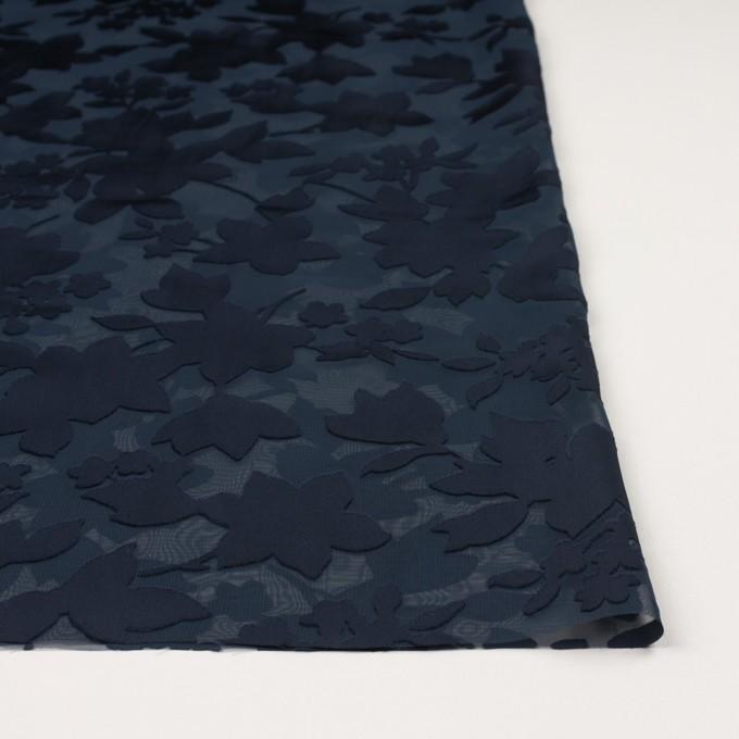 ポリエステル×フラワー(プルシアンブルー)×オパールジョーゼット_全2色 イメージ3