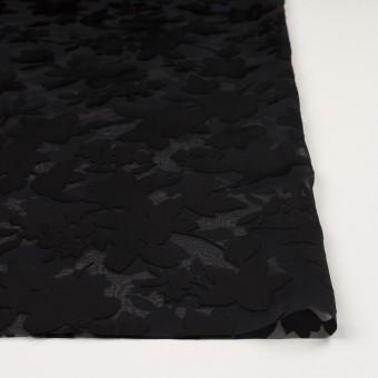 ポリエステル×フラワー(ブラック)×オパールジョーゼット_全2色 サムネイル3
