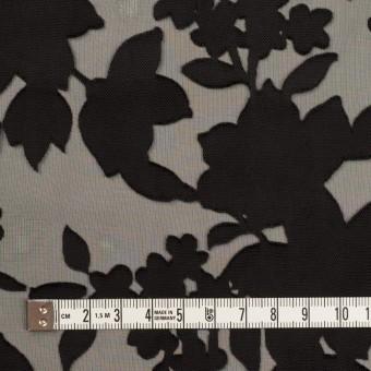 ポリエステル×フラワー(ブラック)×オパールジョーゼット_全2色 サムネイル4