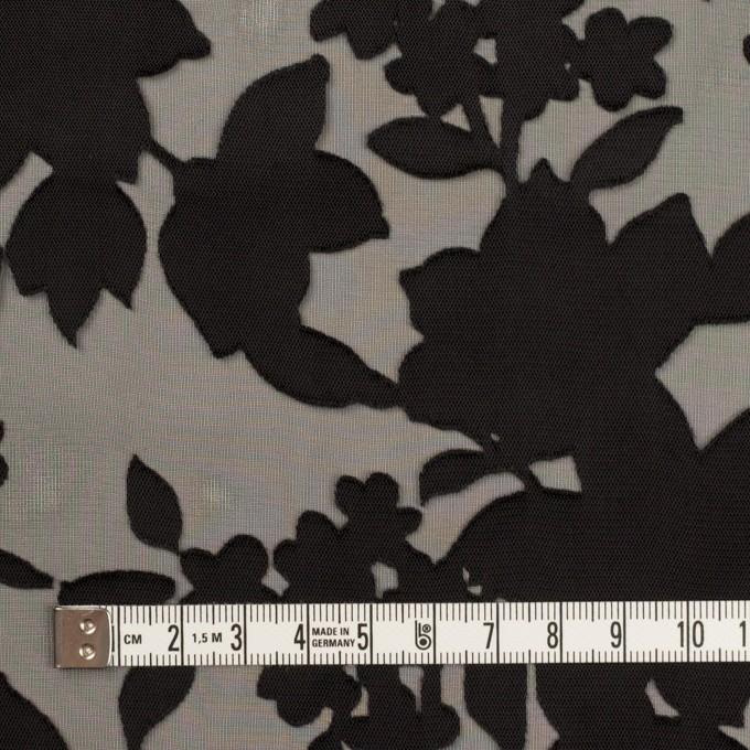 ポリエステル×フラワー(ブラック)×オパールジョーゼット_全2色 イメージ4