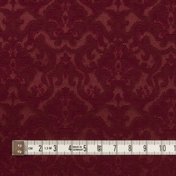 コットン&ポリエステル×幾何学模様(バーガンディー)×ジャガード_全2色 イメージ4