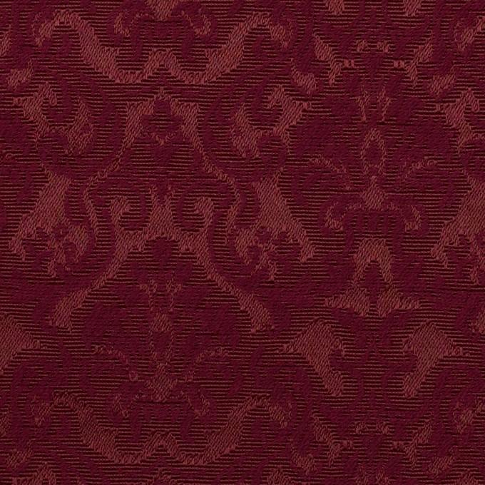 コットン&ポリエステル×幾何学模様(バーガンディー)×ジャガード_全2色 イメージ1