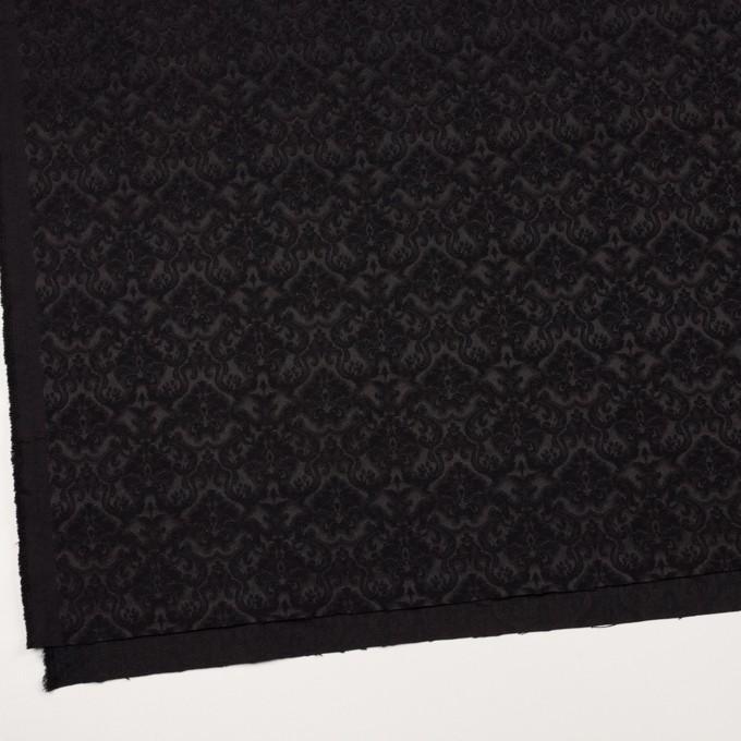 コットン&ポリエステル×幾何学模様(ブラック)×ジャガード_全2色 イメージ2
