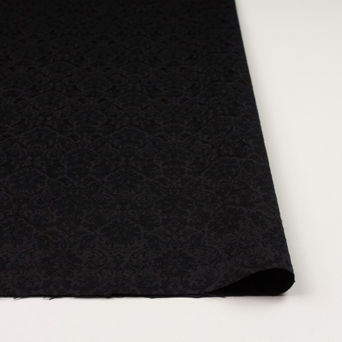 コットン&ポリエステル×幾何学模様(ブラック)×ジャガード_全2色 イメージ3