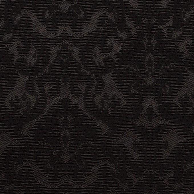 コットン&ポリエステル×幾何学模様(ブラック)×ジャガード_全2色 イメージ1