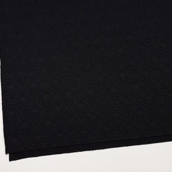 ポリエステル&ポリウレタン×幾何学模様(ブラック)×ジャガード・ストレッチ サムネイル2