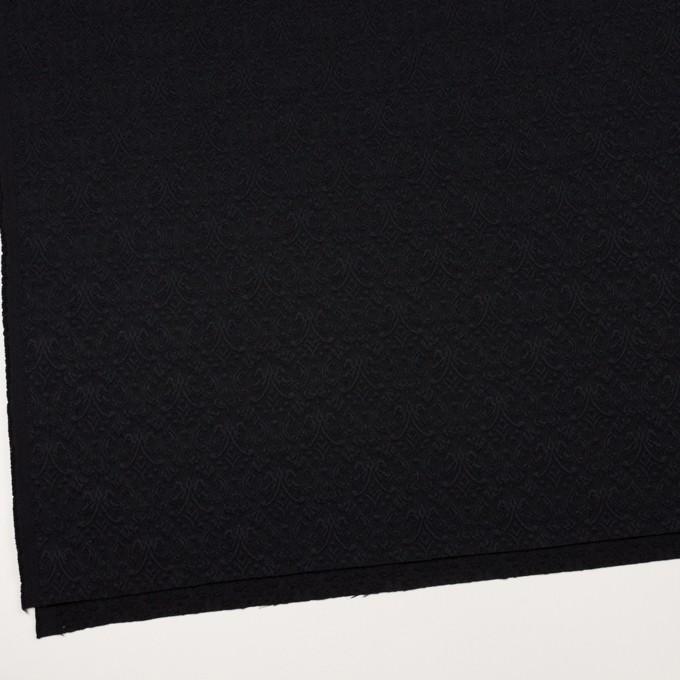 ポリエステル&ポリウレタン×幾何学模様(ブラック)×ジャガード・ストレッチ イメージ2