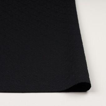 ポリエステル&ポリウレタン×幾何学模様(ブラック)×ジャガード・ストレッチ サムネイル3