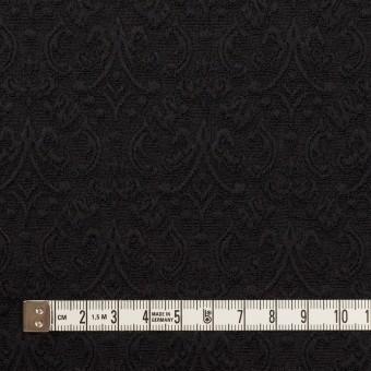 ポリエステル&ポリウレタン×幾何学模様(ブラック)×ジャガード・ストレッチ サムネイル4