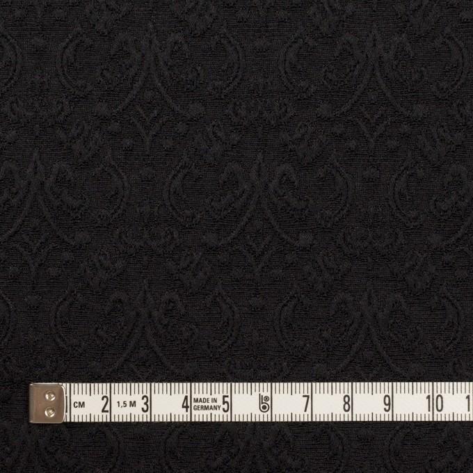 ポリエステル&ポリウレタン×幾何学模様(ブラック)×ジャガード・ストレッチ イメージ4