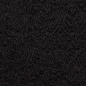 ポリエステル&ポリウレタン×幾何学模様(ブラック)×ジャガード・ストレッチ サムネイル1