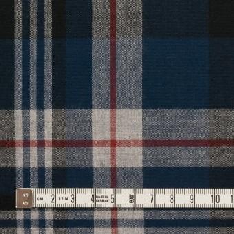 コットン×チェック(ネイビー&ブラック)×フランネル_全2色 サムネイル4