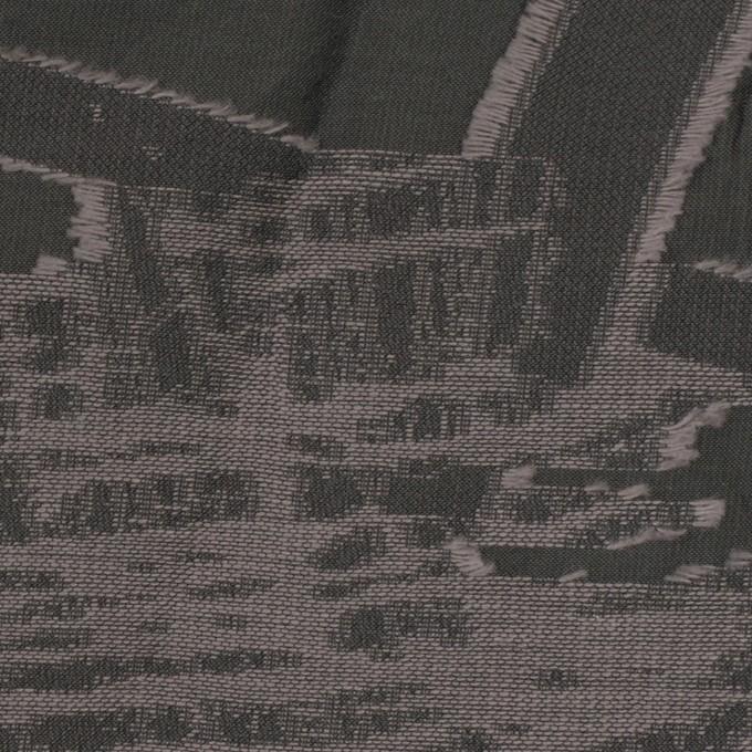 コットン&ポリエステル混×幾何学模様(スチール)×ジャガード・シャーリング イメージ1