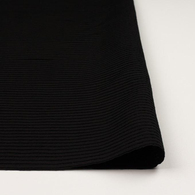 コットン×ボーダー(ブラック)×ピンタック イメージ3