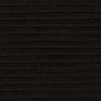 コットン×ボーダー(ブラック)×ピンタック
