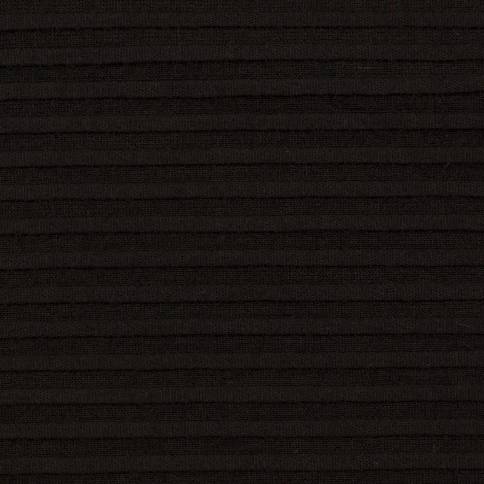 コットン×ボーダー(ブラック)×ピンタック イメージ1