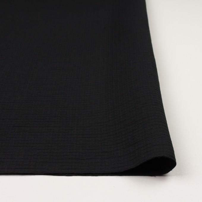 コットン×無地(ブラック)×二重織 イメージ3