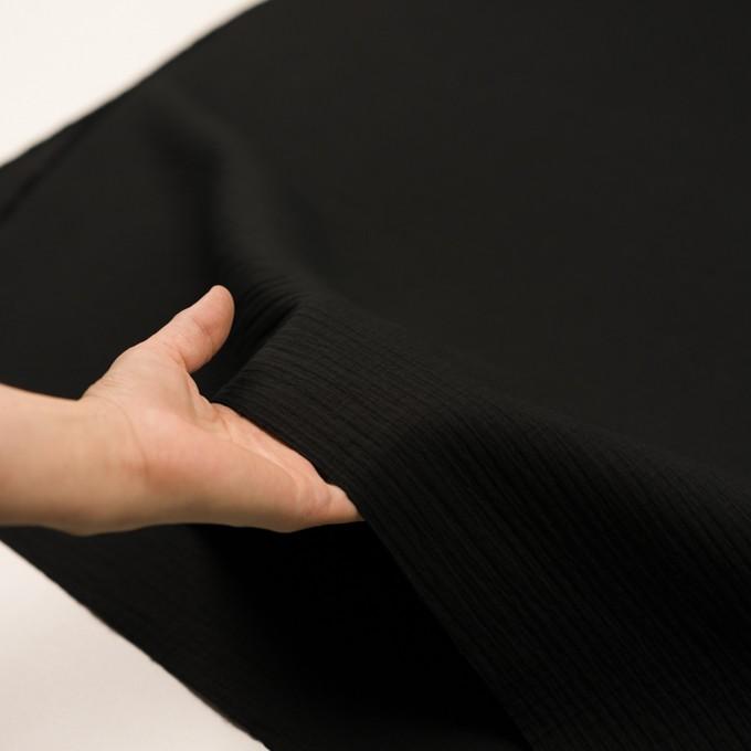 コットン×無地(ブラック)×二重織 イメージ5