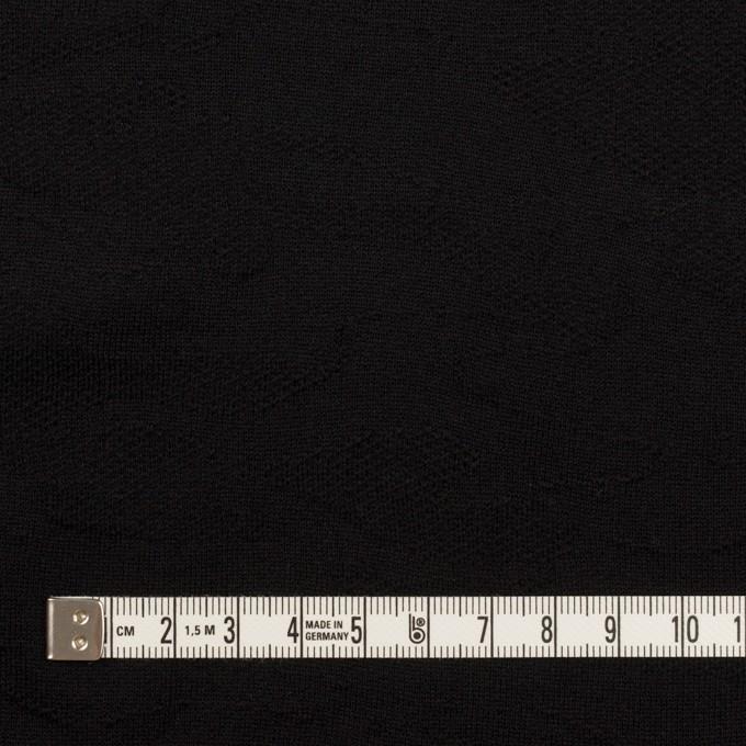 コットン×迷彩(ブラック)×裏毛ジャガードニット イメージ4