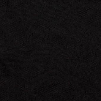 コットン×迷彩(ブラック)×裏毛ジャガードニット サムネイル1