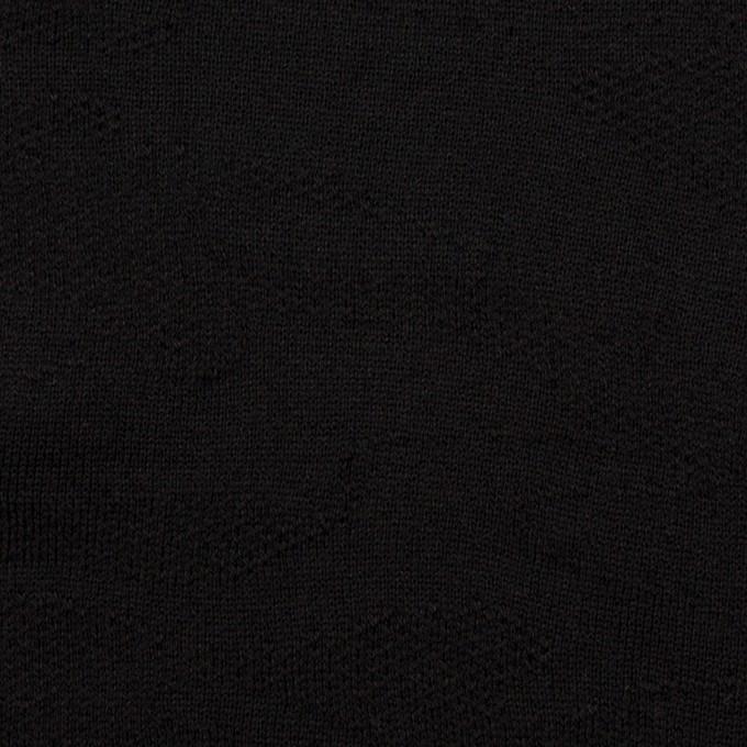 コットン×迷彩(ブラック)×裏毛ジャガードニット イメージ1