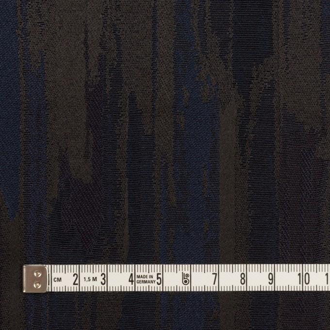 ポリエステル×幾何学模様(ネイビー&チャコール)×ジャガード イメージ4