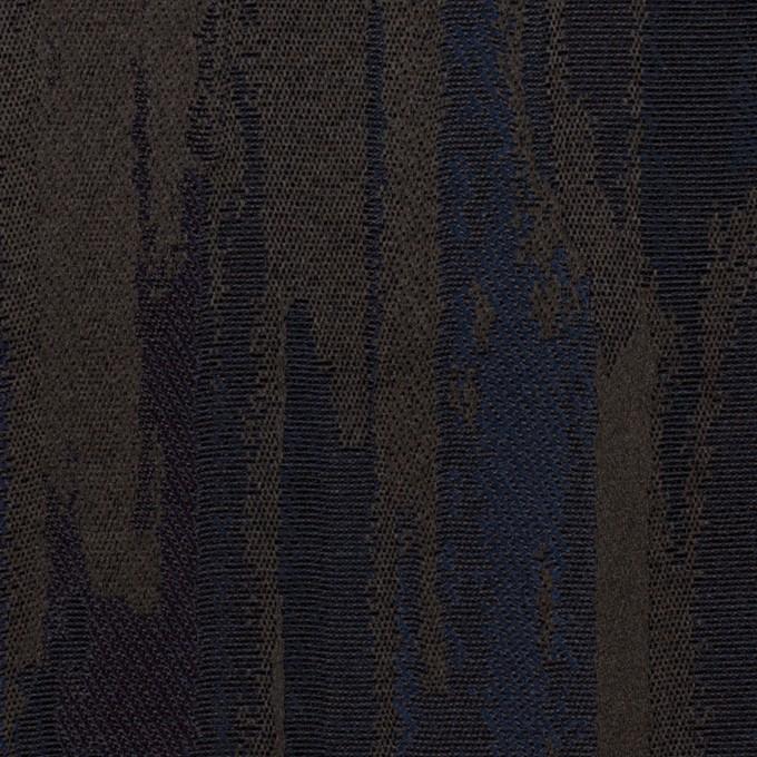 ポリエステル×幾何学模様(ネイビー&チャコール)×ジャガード イメージ1