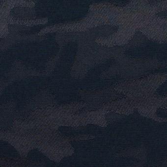 コットン&ポリエステル混×迷彩(ネイビー)×ジャガード・ストレッチ