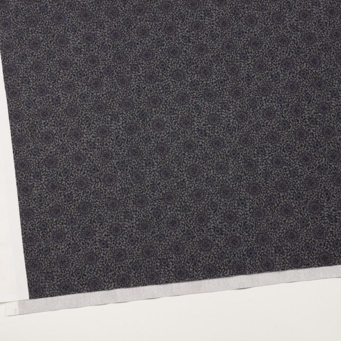 コットン×フラワー(グレー)×フランネル イメージ2