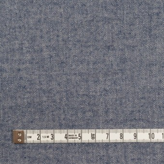 コットン&ポリウレタン×ミックス(アッシュブルー)×ヘリンボーン・ワッシャー_全3色 サムネイル4