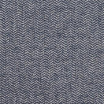 コットン&ポリウレタン×ミックス(アッシュブルー)×ヘリンボーン・ワッシャー_全3色 サムネイル1