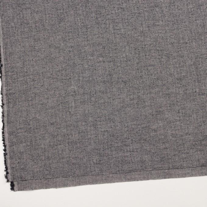 コットン&ポリウレタン×ミックス(チャコール)×ヘリンボーン・ワッシャー_全3色 イメージ2