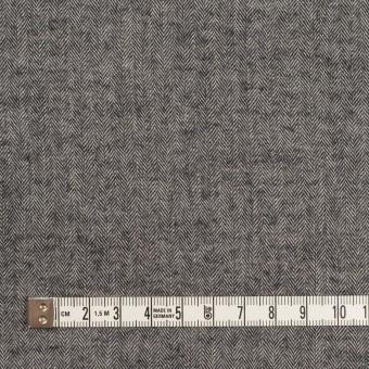 コットン&ポリウレタン×ミックス(チャコール)×ヘリンボーン・ワッシャー_全3色 サムネイル4