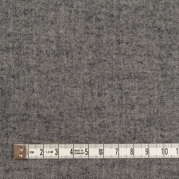 コットン&ポリウレタン×ミックス(チャコール)×ヘリンボーン・ワッシャー_全3色 イメージ4