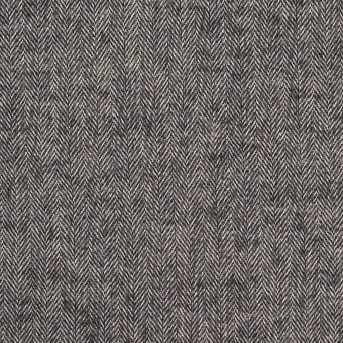 コットン&ポリウレタン×ミックス(チャコール)×ヘリンボーン・ワッシャー_全3色 イメージ1