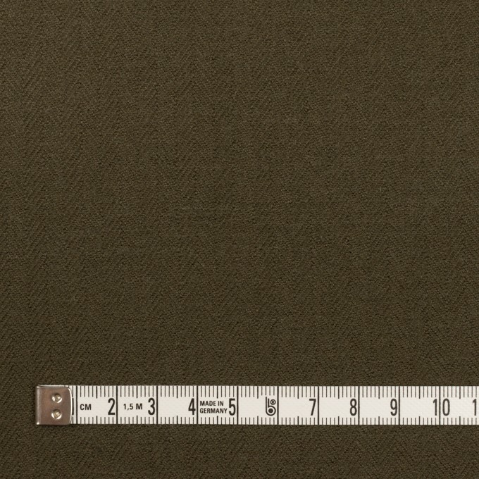 コットン×無地(ダークカーキグリーン)×ヘリンボーン イメージ4