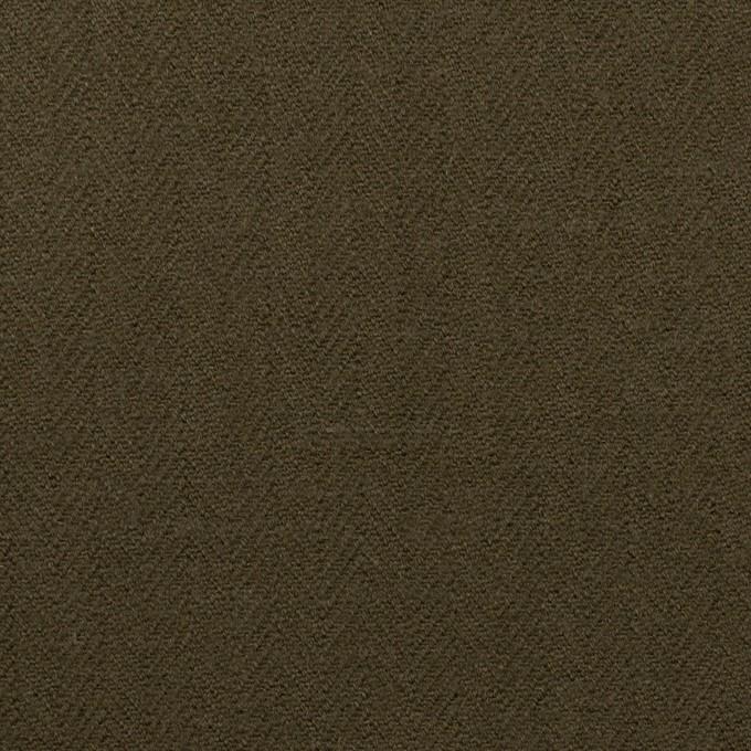 コットン×無地(ダークカーキグリーン)×ヘリンボーン イメージ1