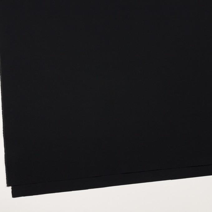 コットン×無地(ブラック)×高密ポプリン イメージ2