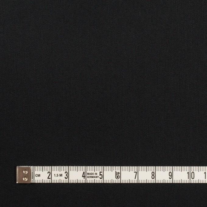 コットン&ポリエステル混×無地(ブラック)×サージストレッチ イメージ4