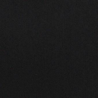コットン&ポリエステル混×無地(ブラック)×サージストレッチ
